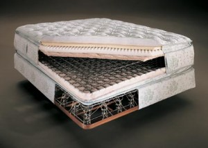 Innerspring mattresses are made of steel coils