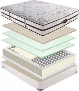 beautyrest elite mattress cut away diagram