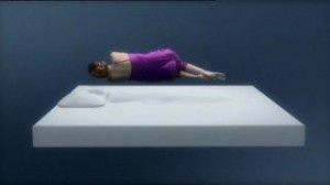 Feel like you are floating on a Tempur-Weightless mattress